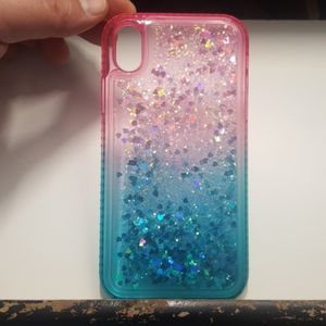 """Case waterfall for iphone XR 6.1"""" pink-blue new"""